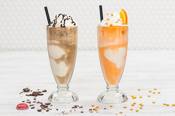 Coke Float and Creamsicle Float