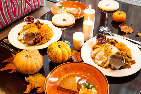 Display of Thanksgiving Dinner options
