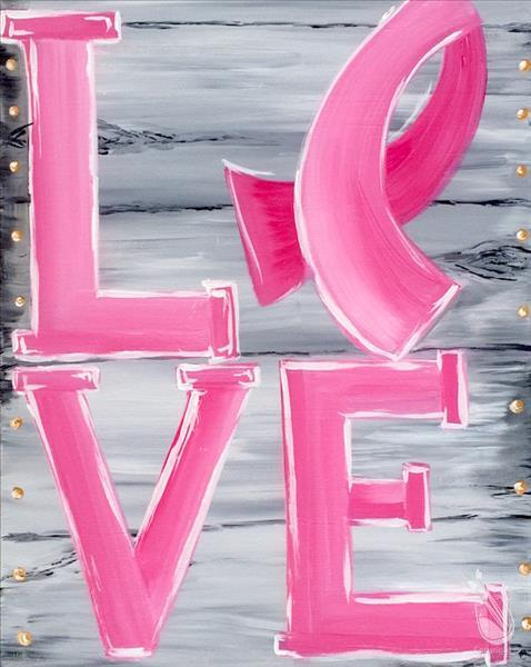 Painting with a Twist at Hard Rock! Celebrate Pinktober!