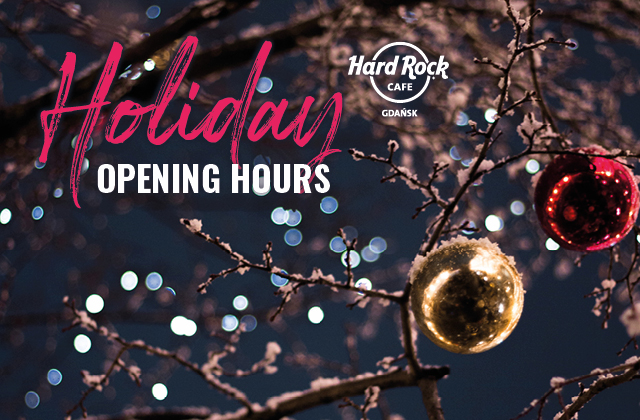 Holiday - OPENING HOURS