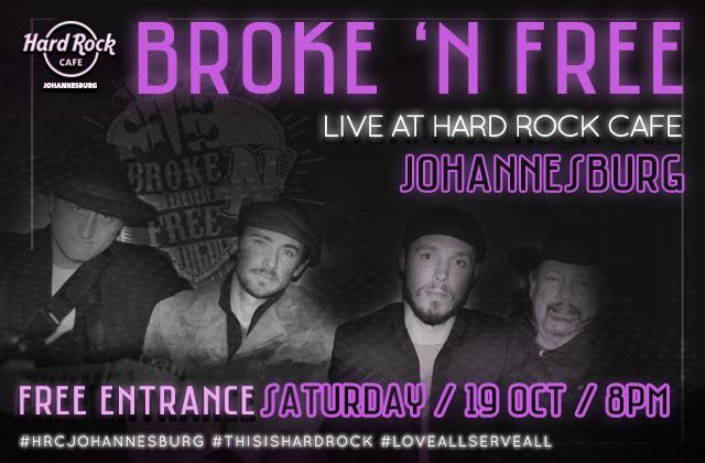 Broke n free PERFORMS LIVE @ HARD ROCK CAFE.