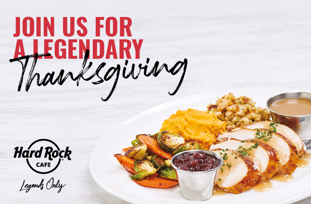 Thanksgiving meal at Hard Rock Cafe London