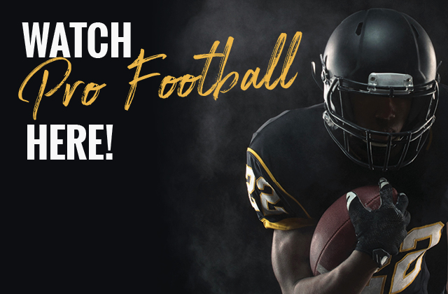CATCH THURSDAY NIGHT FOOTBALL WITH US!